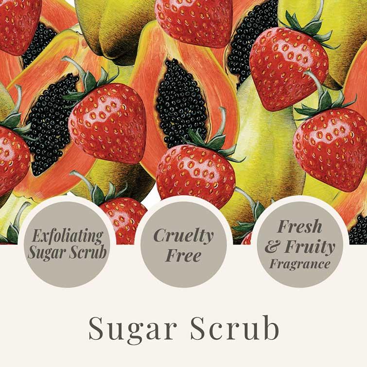 Tropical Fruits 550g Sugar Scrub - USP - Strawberry & Papaya